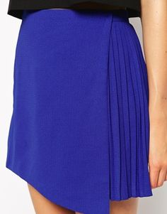 Fashion Union Wrap Skirt With Pleating