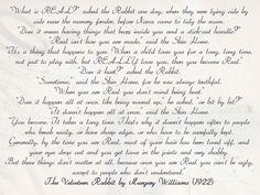 Velve Rabbit Wedding Reading Pocketful Of Dreams Blog