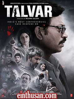 Talvar Hindi Movie Online - Irrfan Khan, Konkona Sen Sharma, Neeraj Kabi and Sohum Shah. Directed by Meghna Gulzar. Music by Vishal Bhardwaj. 2015 [U/A] ENGLISH SUBTITLE