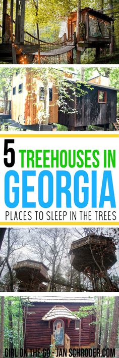 Ever wanted to sleep in the trees?  You can! Click to find accommodation in the trees around Atlanta