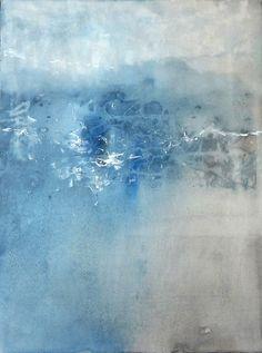 J. Masaki  Art Print. Modern Abstract Canvas Painting. SOMETHINGdebussy Art on Etsy- 11x14- PARASITISM- blue white romantic love flow movement Series 1