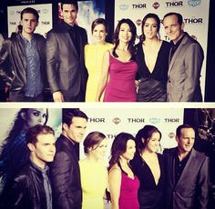 Cast of Agents of SHIELD at the red carpet premiere of Thor: The Dark World
