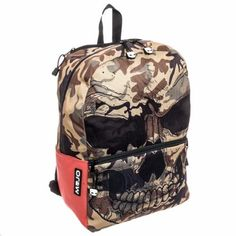Teen/Adult Backpacks - Mojo Mr. Peterson Skull Tech Ready Camo Backpack