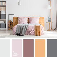 бледно-оранжевый, дизайнерские палитры для ремонта, коричневый, оранжевый, оттенки розового, палитра для дизайна интерьера, пурпурный, рыжий, светло-вишневый, серый, серый с оттенком розового, сливово-серый, цвет асфальта, цвет светлого