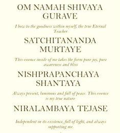 Om Namah Shivaya Gurave my most empowering mantra Sanskrit Mantras, Yoga Mantras, Hindu Mantras, Yoga Quotes, Kundalini Yoga, Pranayama, Kundalini Mantra, Mantra Meditation, Om Mantra