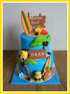 Minions On The Beach Cake