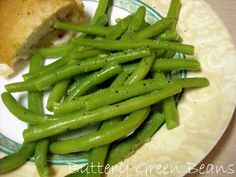BEST stove top green beans!!  We used lemon-pepper, garlic salt, and minced onion!  Delicious....AND that's coming from someone who normally does not like green beans!!