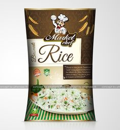 Packaging for Rice company from New zealand name ' Market Chef '