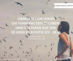 Wegweisung für dein Leben.. | Bibelvers nachlesen auf #BibleServer | Psalm 37,5