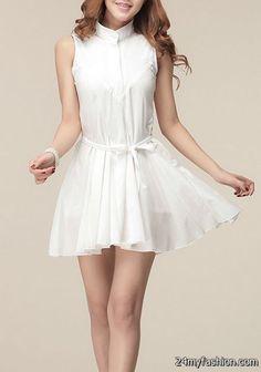 White pleated dress 2017-2018 » B2B Fashion