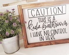 Are you searching for images for farmhouse bathroom? Check this out for amazing farmhouse bathroom inspiration. This kind of farmhouse bathroom ideas seems to be totally brilliant. Diy Home Decor Rustic, Wood Signs Home Decor, Funny Home Decor, Signs For Home, Home Decor Quotes, Diy House Signs, Diy Decorations For Home, Nature Home Decor, Home Decor Ideas