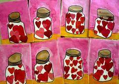 Drawing For Kids, Art For Kids, Crafts For Kids, Arts And Crafts, Kindergarten Art Lessons, Art Lessons Elementary, Valentines For Kids, Valentine Crafts, Spring Art