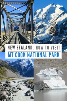 How to visit Mt Cook National Park and Tasman Glacier. New Zealand tours, Best places to visit in Mt Cook National Park: Mount Cook Village, Tasman Glacier, Stargazing tours, Aoraki New Zealand. #newzealand