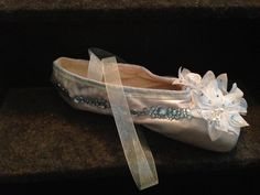 One Dew Drop Inspired Decorated Ballet Pointe Shoe by LogisMommaDesigns,