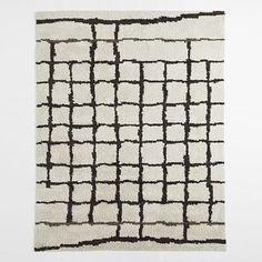 Steven Alan Grid Shag Wool Rug 8x10' - West Elm :: $629 (on sale)