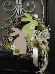 Březňáčci Summer Door Wreaths, Easter Wreaths, Diy Easter Decorations, Wreath Crafts, Spring Crafts, Easter Crafts, Happy Easter, Ideas, Door Hangings