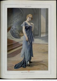 Les modes (Paris), May 1914, Evening look, Robe du soir, par Laferriere