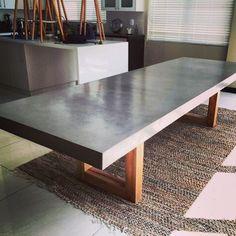 concrete dining table #concretefurniture #concretedesign