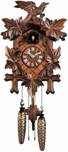 Add A Touch Of Character To Your Home With This Carved Style Quartz Cuckoo Clock Movement Inches Babbling Brook Every Hour Wood Dial