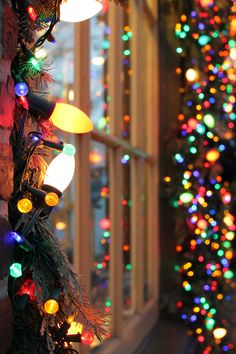 Whether looking from the in or outside, fairy lights at Christmas time perfect for framing your window!