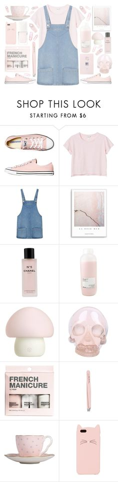 """""""CRYSTAL CLEAR"""" by hannah-gw-martin ❤ liked on Polyvore featuring Converse, Monki, MANGO, Chanel, Davines, Emoi, Horace, H&M, Anastasia and Wedgwood"""