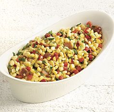 Corn, Bacon, and Red Pepper Sauté