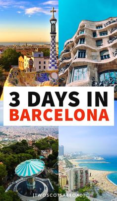 Fun 3 Days in Barcelona Itinerary [Free Map] Europe Travel Tips, European Travel, Travel Destinations, Travel Guide, Barcelona Guide, Barcelona Travel, Ibiza Travel, Ibiza Trip, Barcelona Architecture