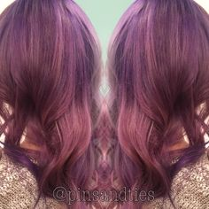 Dusty lavender and rose gold hair by Germaine