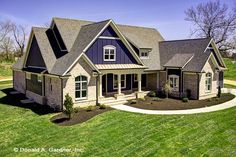 The Austin plan Built by Jimmy Nash Homes. Austin plan Built by Jimmy Nash Homes. New House Plans, Dream House Plans, House Floor Plans, Country Style House Plans, Craftsman Style House Plans, Craftsman Exterior, Craftsman Ranch, Exterior Paint, Exterior Design