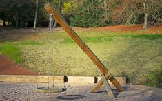 Playground Equipment - Swing No.6 Basket Playground Swings, Outdoor Furniture, Outdoor Decor, Hardwood, Basket, Home Decor, Natural Wood, Decoration Home, Room Decor
