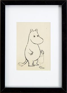 Amazing moomin art at auction, ends May 1st 2016, A chance to pick up an original Mumin artwork that will look fantastic on any wall.