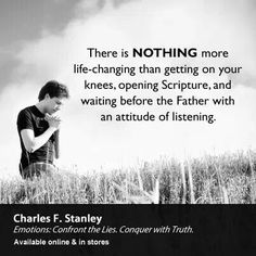 Charles Stanley is one of my most admired men of God. Love Scriptures, Bible Verses, Christian Faith, Christian Quotes, Charles Stanley Quotes, Great Quotes, Inspirational Quotes, All That Matters, Christian Inspiration