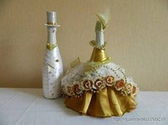Resultado de imagen para garrafas decoradas com tecidos