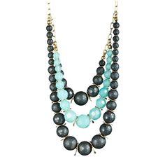 Multi-Strand Ball Necklace