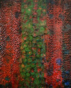 'Lily pad' by Serap Korhan W:40cm. L:50cm. #Encaustic  #hotwax  #shellacburn on canvas