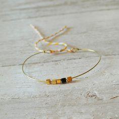Tiny little friendship bracelet brass adjustable by AMEjewels