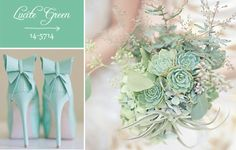 Shabby Chic Colors For 2015 : 33 best lucite green wedding images on pinterest wedding colors