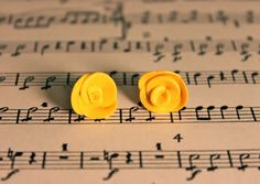 Yellow rose studs!! www.etsy.com/shop/rachaelp03