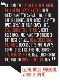 Laurie Halse Anderson on Real Books.