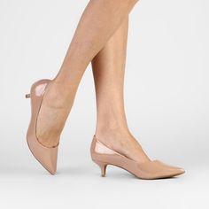 Scarpin Bottero Bico Fino Salto Baixo - Bege Stilettos, Pumps, Kitten Heels, Shoe Bag, Sandals, Lady, Closet, Outfits, Fashion