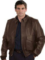 San Diego Leather A2 Dark Brown Cowhide Leather Bomber Jacket Sizes 38-48 40L-48L #madeinusa Many Jackets from this company on #MadeinAmerica Amazon Associate Store.  The A-2 Air Force Dark Brown Cowhide is the standby of flying men. W.W.II aces lament ever having turned theirs in. Our Dark Brown USA Tanned Leather is the most durable of the leathers.