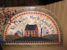 country folkart | Hearthside Happenings: New Primitive Country Folk Art Signs!!