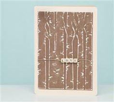 Cricut Cuttlebug™ x Embossing Folder & Border, Birch Tree Bird Tree, Cricut Cards, Card Making Inspiration, Paper Crafts, Card Crafts, Diy Crafts, Love Cards, Embossing Folder, Diy Projects To Try