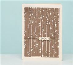Share your love with this woodsy birch tree card!