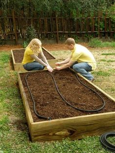 How to Build a Super Easy Raised Bed - Bonnie Plants - also a great resource for garden plans.