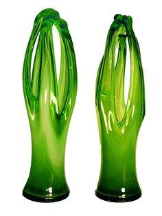 Mid Century Murano Glass Garnitures