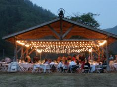 Oh, I want one of these! The pavilion at Hydrangea Ranch, a gorgeous event space at Oregon Coastal Flowers.