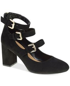 b61f51a6dc04 Size 9 Chinese Laundry DEDRA Black HEELS PUMPS Ankle Strap Womens Shoes
