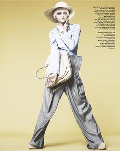 Sasha Pivovarova for <em>Vogue Korea</em> April 2011 by Nino Muñoz