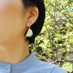 TELLE earrings by joid'art SS14 #joidart #earrings #enamel